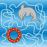 Dolphin - labyrinth Royalty Free Stock Photo