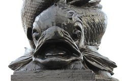 Dolphin Lamposts London. A closeup of the fish at the bottom of the Dolphin Lamposts on the Thames Embankment Royalty Free Stock Photography