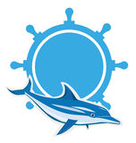 Dolphin logo Stock Photo