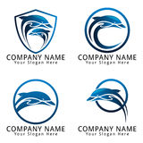 Dolphin Logo Blue Water Color Version Stock Image