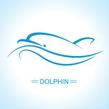 Dolphin logo.Vector flat illustration for design Royalty Free Stock Image