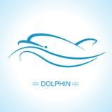 Dolphin logo.Vector flat illustration for design royalty free illustration