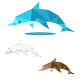 Dolphin low polygon Royalty Free Stock Photography