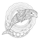 Dolphin and mandalas Royalty Free Stock Image