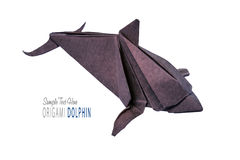 Dolphin origami of paper Stock Photography