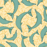 Dolphin pattern Royalty Free Stock Image