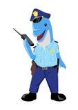 Dolphin Policeman. Cute cartoon illustration of a dolphin as a policeman Stock Photo