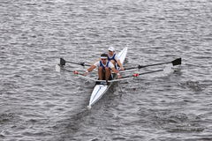 Dolphin races in the Head of Charles Regatta Men's Master Doubles [PUBLIC RACE] Stock Photo