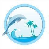 Dolphin_resort_sign illustration libre de droits