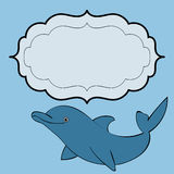 Dolphin sea animal frame text Royalty Free Stock Photos