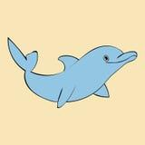 Dolphin sea animal silhouette . Royalty Free Stock Photos