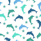 Dolphin seamless pattern Stock Images