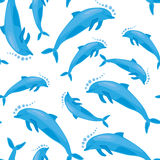 Dolphin seamless texture Stock Images
