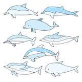 Dolphin set Stock Photo