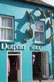 The dolphin shopfront in dingle town royalty free stock image