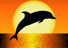 Dolphin silhouette Royalty Free Stock Image