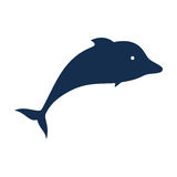 Dolphin silhouette isolated icon. Vector illustration design Royalty Free Stock Photography