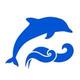 Dolphin Silhouette Stock Photo