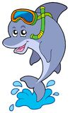 Dolphin snorkel diver Royalty Free Stock Images