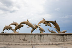 Dolphin statues Royalty Free Stock Images
