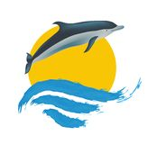 Dolphin vector illustration, Royalty Free Stock Images