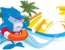 Dolphin. Vector illustration Stock Photo