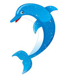 Dolphin. Vector illustration of a cartoon dolphin Royalty Free Stock Images