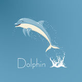Dolphin who is jumping out of water  illustration. On the image presented Dolphin who is jumping out of water l illustration Royalty Free Stock Image