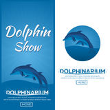 Dolphinarium. Dolphin show. Banner. Ticket. Vector flat illustration. Dolphinarium. Dolphin show. Banner Ticket Vector flat illustration Royalty Free Stock Image