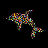 Dolphine kształt Fotografia Stock