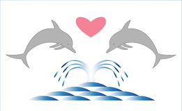 Dolphins. Royalty Free Stock Photo