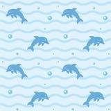 Dolphins seamless background pattern stock illustration