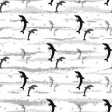Dolphins seamless pattern background, summer print for textile and card design. Eps 10 Stock Photography
