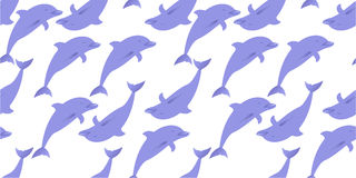 Dolphins seamless pattern Stock Photo