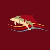 Dolphins silhouette logo Royalty Free Stock Photo