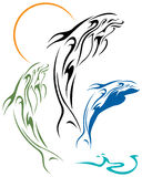 Dolphins tattoo design Royalty Free Stock Images