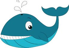 DolphinSuper逗人喜爱的动画片艺术 免版税图库摄影