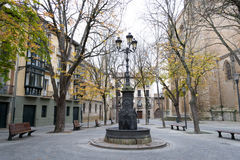 The dolpins fountain in San Jose Square Stock Image