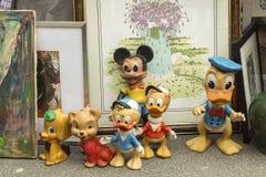 Dols de borracha de Disney na feira da ladra em Zagreb Fotos de Stock Royalty Free