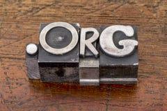 Domínio do Internet da organização não lucrativa Imagens de Stock
