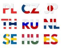 Domínios dos países ajustados Imagens de Stock Royalty Free