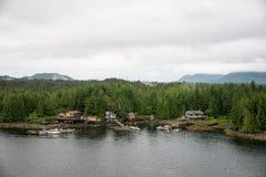 Domów along Inside przejście, Alaska Fotografia Stock