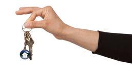 Domów klucze Fotografia Royalty Free