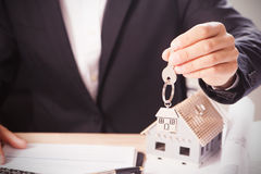 Domów klucze i modela dom Obraz Stock