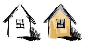 Domów nakreślenia ilustracja wektor