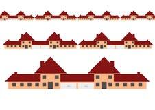 domów rzędy royalty ilustracja