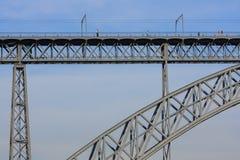 DOM ι luis Οπόρτο γεφυρών Στοκ Εικόνα