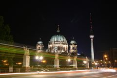 Dom. Alexander platz tower and berliner dome, germany Royalty Free Stock Photos