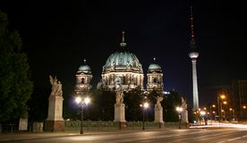 Dom. Berliner dome and alexander square tower Stock Photography