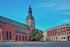 Dom大教堂在里加,拉脱维亚。 库存照片